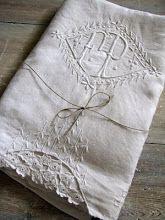 French monogrammed linen