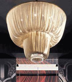 custom light installation | beaded crystal | floor lamp | made in