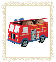 Fire Engine Toy Box By Teamson Kids is a great fun pice of Children's Furniture and it's an amazing themed wooden toy box ideal for both boys and girls Kids Bedroom Storage, Kids Storage, Toy Storage, Storage Trunk, Storage Chest, Storage Ideas, Personalised Wooden Toy Box, Wooden Toy Boxes, Wooden Toys