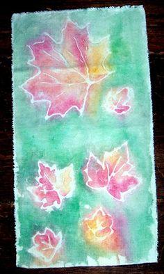 batik with Elmer's glue and acrylic paint