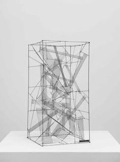 From Galeria Luisa Strina, León Ferrari, Untitled Stainless steel and silver welding, 60 × 30 × 30 cm Geometric Sculpture, Abstract Geometric Art, Abstract Sculpture, Sculpture Art, Conceptual Drawing, Sculpture Lessons, Architecture Concept Drawings, Artistic Installation, Constructivism