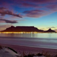 Table mountain during a beautiful sunset in Cape Town , South Africa Places Around The World, Around The Worlds, Table Mountain Cape Town, Beautiful World, Beautiful Places, Beautiful Sunset, Africa Destinations, Vacation Destinations, Dream Vacations