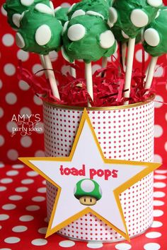 Super Mario Birthday Party Food Labels - personalized & printable