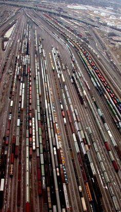 Chicago Train Yard (by lantzilla on Flickr)