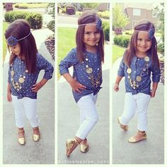 This little girl is sooo cute and stylish!!! I want Hannah to be this stylish!! :)