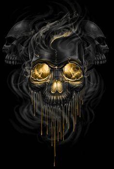 staggerlee13367:  Skull Melt by ESIC