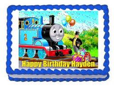 A personal favorite from my Etsy shop https://www.etsy.com/listing/462301066/thomas-and-friends-party-decoration
