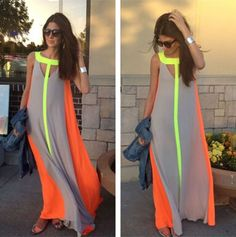 Fashion Women Summer Sleeveless Evening Party Beach Long Maxi Sundress Dress in Clothing, Shoes & Accessories, Women's Clothing, Dresses Cheap Long Dresses, Casual Summer Dresses, Beach Dresses, Dress Summer, Dress Beach, Casual Gowns, Summer Sundresses, Prom Dresses, Sun Dresses