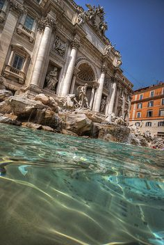Trevi Fountain in Rome, Italy-- It's really this beautiful in person!