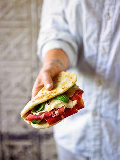 Italian flatbread with prosciutto and fontina (piadina) recipe : SBS Food