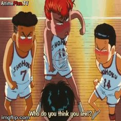 I made a gif of the Slam Dunk anime ~ haha  This scene is found in Episode 29 :D