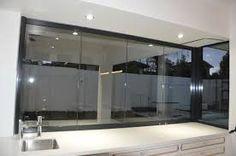 Image result for frameless windows Curtains For Bifold Doors, Floating Wall, Building Design, Divider, Windows, Glass Doors, Room, Furniture, Image