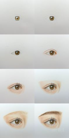 Video - How to draw a realistic eye with colored pencils Step by Step