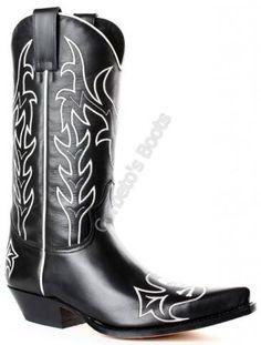 Bota cowboy Sendra Boots calavera bordada para hombre