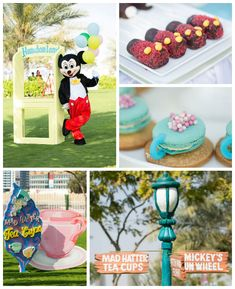 Disneyland themed birthday party with Lots of Really Cute Ideas via Kara's Party Ideas! Full of decorating tips, cakes, cupcakes, favors, ga...