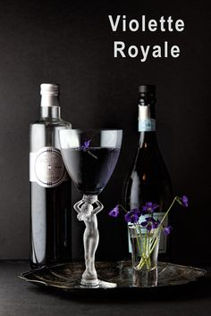 Violette Royale - two ingredient cocktail, easy and elegant