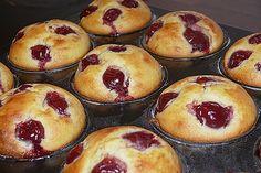 Quark – Kirsch – Muffins Quark – Cherry – Muffins from MyxinTM Mini Desserts, Camping Desserts, Oreo Desserts, No Bake Desserts, Donut Recipes, Muffin Recipes, Cupcake Recipes, Dessert Recipes, Muffins Sains