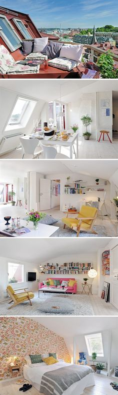 Ah Such A Cute Apartment · Attic ApartmentDream ApartmentSmall Apartment  InteriorDesign ApartmentApartment IdeasFrench ...