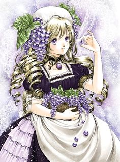 Grape princess by manga artist Shiitake.