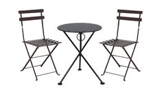 Mobel Designhaus 3 Piece French Cafe Bistro Black Steel Table and 2 Folding Side Chairs Dining Set -- We appreciate you for visiting our image. (This is our affiliate link) French Cafe, French Bistro, Round Dining Table, Dining Set, European Cafe, 3 Piece Bistro Set, Restaurant Patio, Patio Bar Set, Cafe Bistro