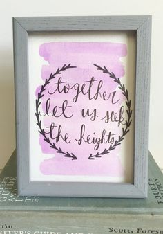 A CHI O | lyre | together let us seek the heights | sorority | axo | calligraphy