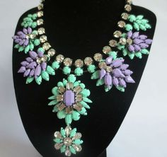 Stunning Crystal and rhinestone Statement Necklace