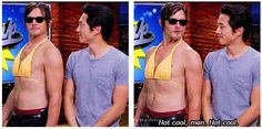 Norman Reedus & Steven Yeun, The Walking Dead ..Not cool man. Not cool. The Soup