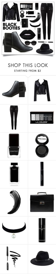 """""""Black Booties"""" by bethany-333 ❤ liked on Polyvore featuring City Classified, Taya, Paige Denim, Context, Manic Panic NYC, Narciso Rodriguez, Christian Dior, Prada, Bobbi Brown Cosmetics and Carla Zampatti"""