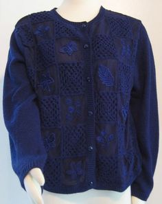 """Mouse over image to zoom                                                                                                                                                                     Sell one like this         """"TEDDI PETITES"""" SIZE XL BLUE BUTTON FRON SWEATER"""