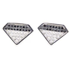 92.5 SILVER EARRINGS JEWELRY STUDDED WITH SPARKLING WHITE & BLACK CZ STONES SUPERSHINE 01502BLS SUPER SHINE JEWELRY http://www.amazon.in/dp/B00QYKO62S/ref=cm_sw_r_pi_dp_Ayevvb0RV6483