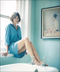 she's just gorgeous everywhere! Alexa Chung