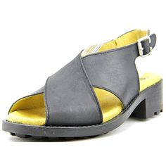 Eric Michael Sicily Women US 7 Black Open Toe Slingback Sandal EU 37 -- Discover this special product, click the image Closed Toe Sandals, Gladiator Sandals, Women's Sandals, Slingback Sandal, Sicily, Open Toe, Perfect Fit, Heels, Leather