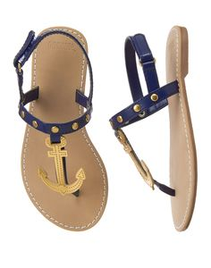 Metallic Anchor Sandals at Gymboree