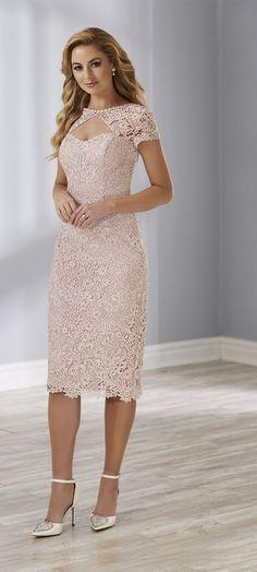 863d058f ... lace dress with boat neckline shape and key hole on front illusion.  Short sleeves just off shoulder. #ChristinaWu #ChristinaWuElegance  #motherofthebride ...