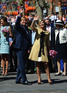 30 april 2012 - Rhenen en Veenendaal - Máxima op Koningsdag  - Nieuws - Fashion