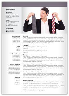 CV design 303. Volledig in Microsoft Word voor elke functie zelf aan te passen.