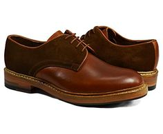 Brown Oxford Men's Shoes by Paul Malone . 100% Leather