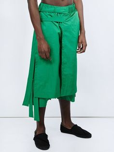 Craig Green layered wrap shorts