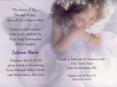 Girls First Communion Invitations, Bliss Communion Invitations at www.TCWDesigns.com First Communion Invitations, First Holy Communion, Bliss, Celebrities, Girls, Ideas, Invitations, Valentines Day Weddings, Toddler Girls