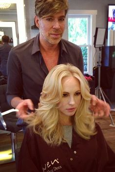 Candice Accola with Chaz Dean for the Wen Hair Care Photo Shoot