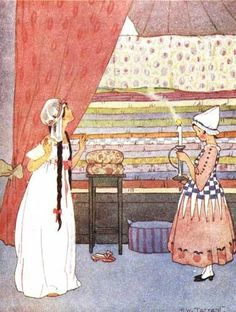 Margaret Tarrant The Princess and the Pea    Cute story and cute illustration