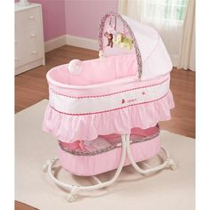 Summer Infant Carter's Jungle Jill Cradle Me Soothing Bassinet Baby Gear Nursery | eBay