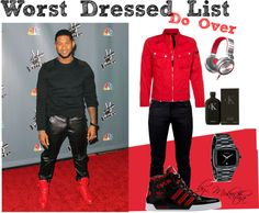 """#Usher Fashion Do Over"" by mokeitha ❤ liked on Polyvore"