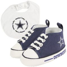 Dallas Cowboys Infant Bib and Shoe Gift Set - Navy Blue/White