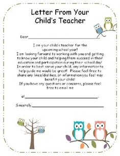 Back To School - Parent Letter and Survey | Ms  Martin please