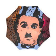 CHARLIE CHAPLIN-4 Foldable Umbrella