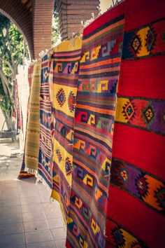 Teotitlan del Valle, Oaxaca, Mexico, hand-loomed rugs