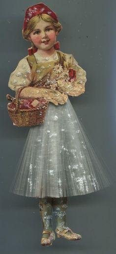 Hübsch+alter Weihnachtsschmuck Christbaumschmuck Rotkäppchen+Glasfaser+Glimmer in Sammeln & Seltenes, Saisonales & Feste, Weihnachten & Neujahr | eBay!