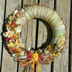 Quilling hanmade wreath by ToschaArt on Etsy