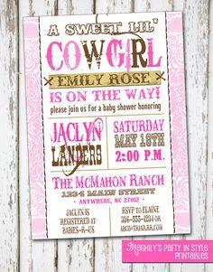 Western Girl - Baby Shower Invitation. $8.00, via Etsy.